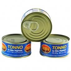 Тунець Tonno 1884 в рослинній олії 80г