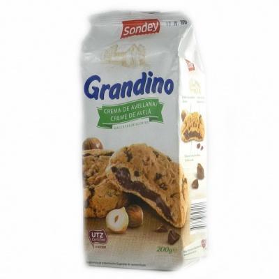 Печиво Sondey Grandino з шоколадно фундуковою начинкою 200 г