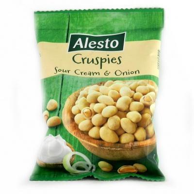 Арахіс Alesto Cruspies з смаком цибулі та сметани 200 г (хрустка скоринка)