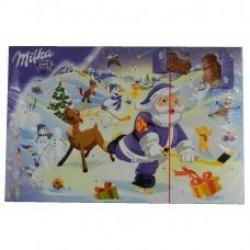 Milka новорічний календар шоколадні фігурки 200 г