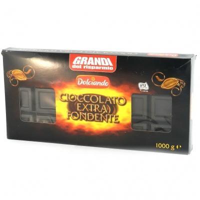 Шоколад Dolciando екстра темний 1 кг
