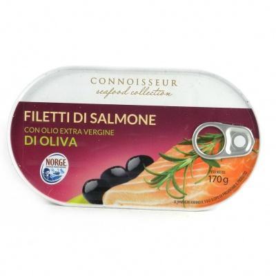Лосось Connoisseur з оливковою олією 170 г (філе)