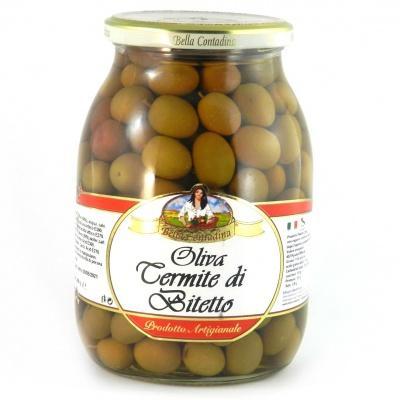 Зелені Bella Contadina oliva germite di bitteto 0.6 кг