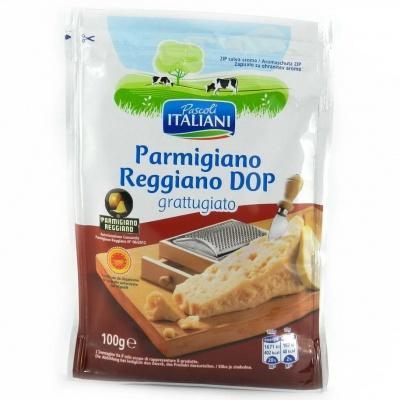 Пармезан Pascoli Italiani reggiano DOP grattugiato тертий 100 г