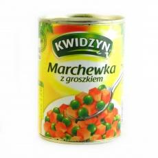 Kwidzyn морква з горошком 400 г