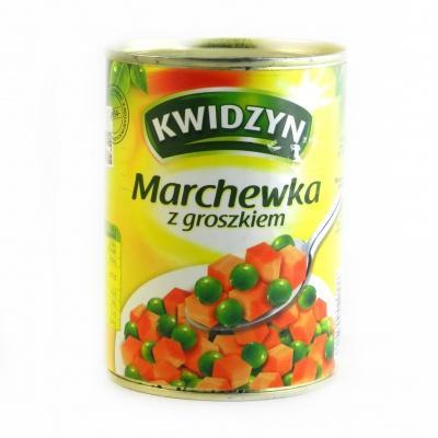 Kwidzyn cуміш морква з горошком 400 г