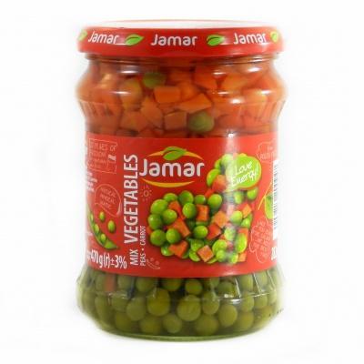 Овочі Jamar горох з морквою 470 г
