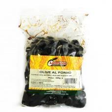 Оливки Lanfranco чорні запечені в пакеті з кісточкою 400г