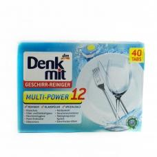 Denk Mit таблетки для посудомийноi машини з 12-ти кратною дiю 40 таблеток