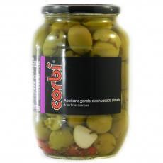 Оливки зеленые Corbi маринованные без косточки 0.835 кг