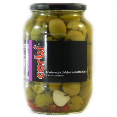 Оливки зелені Corbi мариновані без кісточки 0.835 кг
