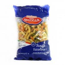 Макарони Pasta Reggia fusilli tricolore 65 0,5кг
