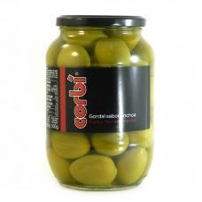 Оливки зелені Corbi gorbal sabor anchoa з кісточкою гігант Іспанія 835 г