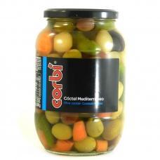 Оливки коктейль Corbi olive coctail mediterraneo Іспанія 835 г