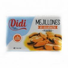 Мідії Didi mejillones в соняшникові олії і винному оцті 120мл