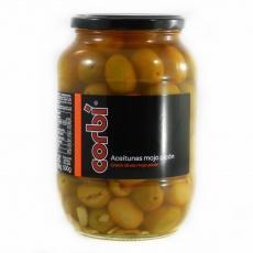 Оливки Corbi зелені з кісточкою та часником 0,835кг