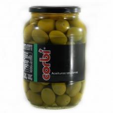 Оливки Corbi зелені з кісточкою 0,835кг