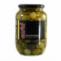 Оливки коктель Corbi зелені з кісточкою 0,835кг