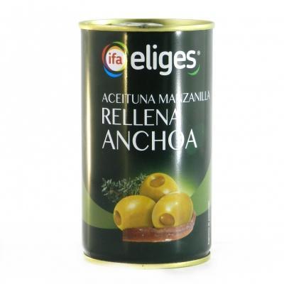 Оливки Eliges зелені з анчоусами 350г