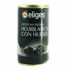 Оливки Eliges чорні з кісточкою 350г