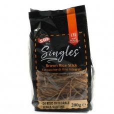 Макарони Singles з коричневого рису 200г