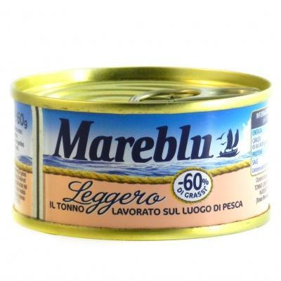 Тунець Mareblu leggero в оливковій олії 60г
