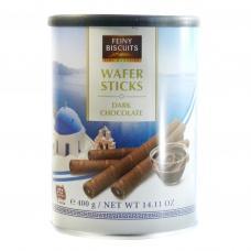 Вафельні трубочки Feiny biscuits wafer sticks з темним шоколадом 400г