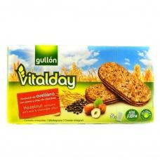 Печиво Gullon vitalday цільнозервове з горіховим кремом 220г