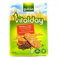 Печиво Gullon vitalday вівсяне з кусочками шоколаду  240г