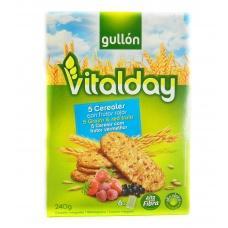 Печиво Gullon vitalday вівсяне з кусочками фруктів 240г