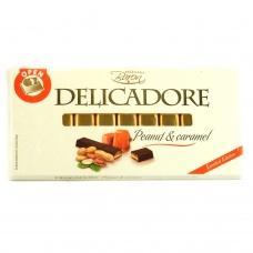 Шоколад порційний Delicadore арахіс з карамелю 200г