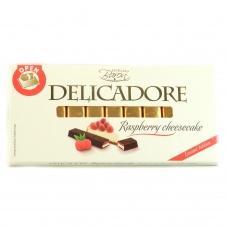Шоколад порційний Delicadore з малиновим чізкейком 200г