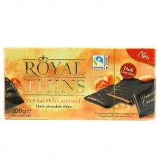 Шоколадні цукерки Royal thins з соленою карамелю 200г