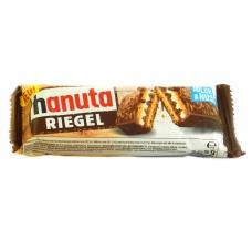Батончик Hanuta riegel покритий молочним шоколадом з шматочками хрусткого горіха 34.5г
