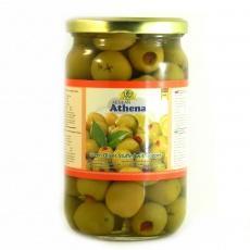 Оливки Aegean Athena зелені фаршировані перцем 700г
