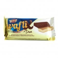 Вафля Biskeyf waflix duo молочний та білий шоколад 30г