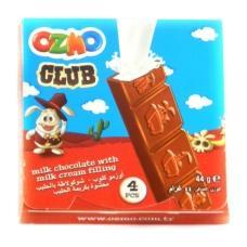 Шоколад Ozomo Club пластинками молочний з молочною начинкою 44г