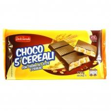 Шоколадні батончики Dolciando choco 5 cereali 6х20г
