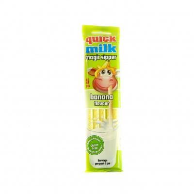 Трубочки для молока зі смаком банана  30г