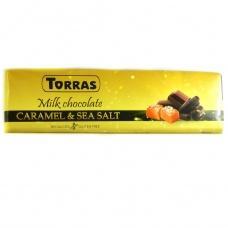 Шоколад Torras молочний з соленою карамеллю 300г