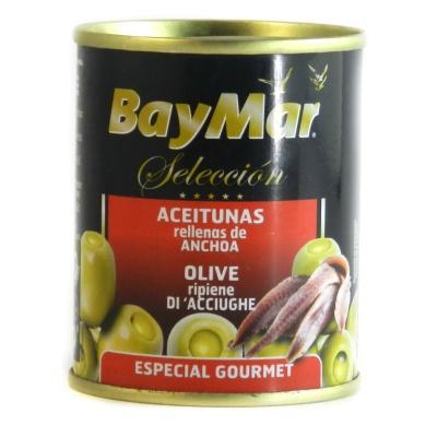 Оливки Bay Mar зелені з анчоусами 125мл