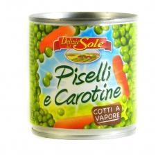 Горошок Delizie dal Sole Piselli e Carotine 150г