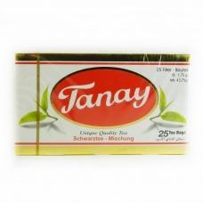 Чай Tanay Cay чорний бергамот  25пакетиків