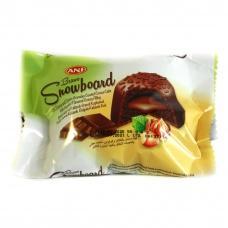Тістечко Brawo snow board шоколадне з лісовими горіхами 50г