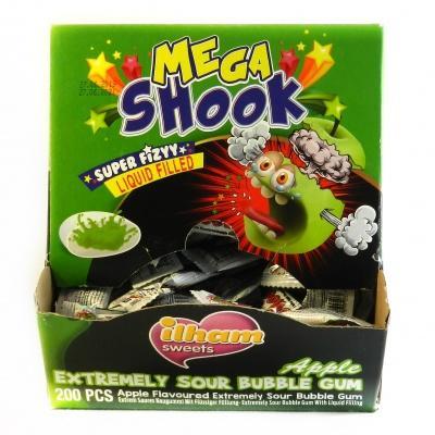 Жуйки Mega shook зелене яблуко 3,6г