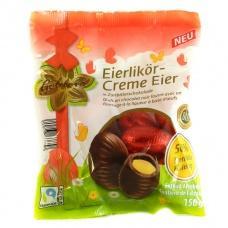 Шоколадні яйця Coldora чорний   шоколад  з лікером  150г
