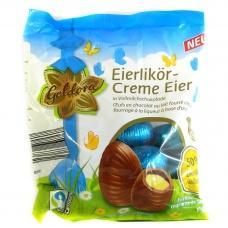 Шоколадні яйця Coldora молочний  шоколад  з лікером  150г