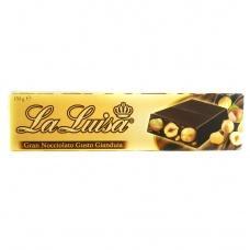 Шоколад La Luisa чорний з  лісовим горіхом 150г