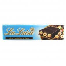 Шоколад La Luisa latte чорний з  лісовим горіхом 150г