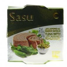Sasu soslu ton тунець з зеленим гострим перцем 160 г